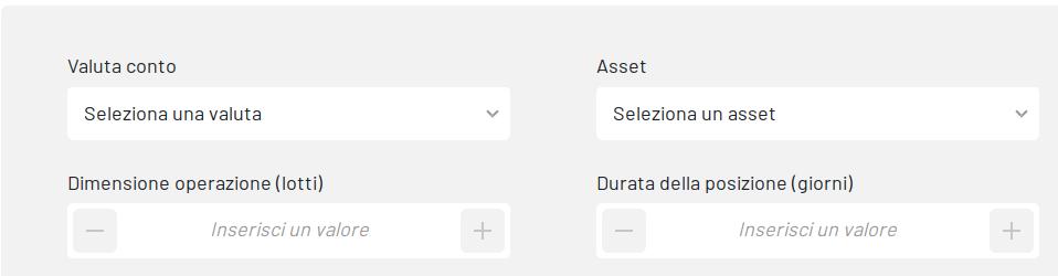 calcolatore degli assets di investous
