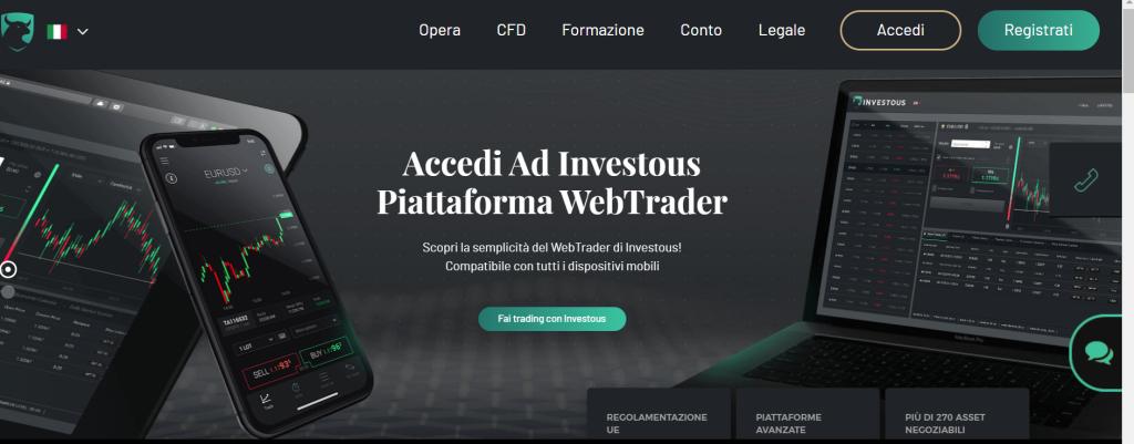 sito ufficiale broker Investous