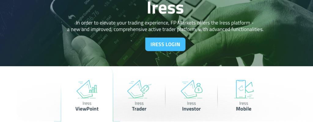 IRESS, la piattaforma specialistica di FP Markets